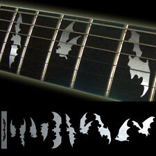 Fret Markers Inlay Sticker Decal Guitar & Bass Bat Wing Bats in flight - Metal