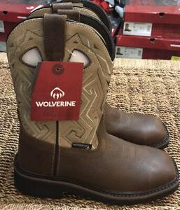 Wolverine Women's Rancher Aztec Steel Toe Waterproof Boots Sz. 8 NEW W201112.