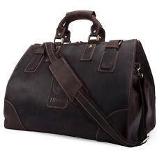 Leder Große Reisetasche braune Weekender Sporttasche Handgepäck Vintage Braun