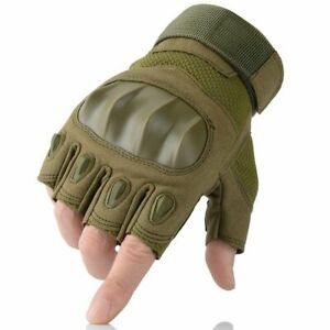 Motorcycle Protective Gloves Touchscreen PU Leather Hard Knuckle Full Finger New