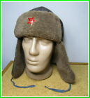 """Military warm Hat """"Ushanka"""" Red Army winter fur hat &  red star~size 58 #299212"""