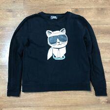 Karl Lagerfeld Cat Jumper Sweater Black Medium