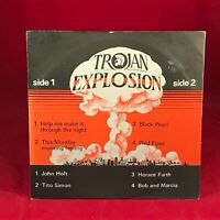 "VARIOUS Trojan Explosion 1979 UK 7"" vinyl EP Horace Faith John Holt  Tito Simon"