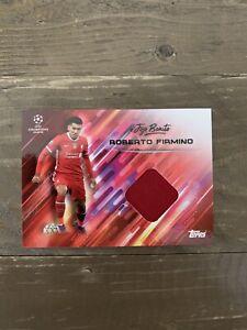 Topps Roberto Firmino O Jogo Bonito - Patch Relic Shirt Card Liverpool Brazil