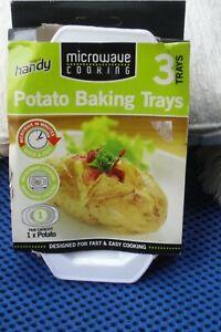 Lovely Vintage  Keep It Handy Baked Potato Microwave Trays x 3