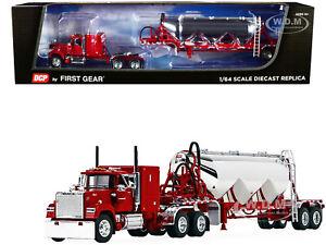 MACK SUPER-LINER W/HEIL PNEUMATIC TANK TRAILER RED 1/64 DCP/FIRST GEAR 60-1013