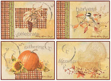 Joyful Harvest ~ Autumn Fall Thanksgiving Tapestry Placemats Set of 4