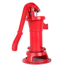 Hand Water Pump Well Pitcher Cast Iron Press Suction Ponds Garden Yard Outdoor