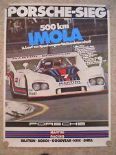 1976 Porsche 936 Spyder 500 KM Imola Victory Showroom Advertising Poster RARE!!
