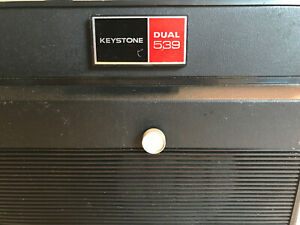 Vintage KEYSTONE Dual 8 Cartridge Movie Projector Model 539 Read Description box