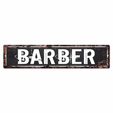 SLND0376 BARBER CAVE Street Chic Sign Home man cave Decor Gift