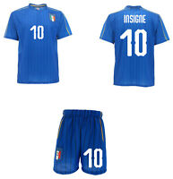 Complet Officiel Italie Insigne Maillot + Short Figc Lorenzo 10 Azzurri