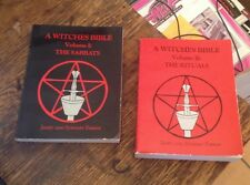 A WITCHES BIBLE Farrar 2 VOL SET 1984 Sabbats - Rituals RARE Free US Shipping