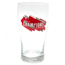 Liverpool FC Champions Of Europe Tulip Pint Glass   OFFICIAL