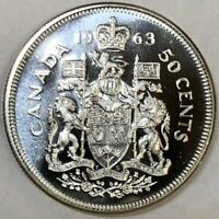 1963 Canada Silver 50 Cents Gem Prooflike