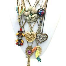 Lote De Trabajo 8 Vintage, Retro Y Moderno Colgante Plata Y Oro Cadena Enlace collares.