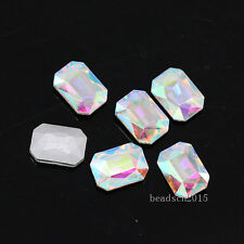 40p 18x13mm octagon pointed back stone crystal rhinestones necklace brooch Gems