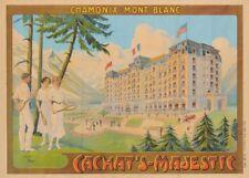 Chamonix-Mont Blanc Cachat's - Majestic cartel de viaje francés 250gsm A3