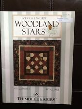 """Quilting patterns THIMBLEBERRIES Woodland Stars 44"""" square new"""