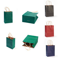 10pcs 4Colors Bright Paper Party Bags - Gift Bag With Handles 15x8x21mm