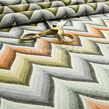 Geométrico Chevron De Colores Vibrante Tejido Calidad Tapicería Tela Chenilla
