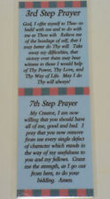 3ed and 7th STEP PRAYER BOOKMARK -  SOBRIETY