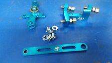 Lambretta BLUE ANODISED CNC 6061 ALLOY GEAR LINKAGE SET