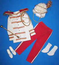 Vintage Ken Doll Drum Major Complete Outfit #0775 Gold Baton Hat Shoes 1964