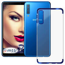 TPU Case Schutzhülle Elegance für Samsung Galaxy A7 2018 (A750 / 6.0'') - blau