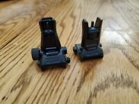 Magpul MBUS Pro - CLONE - Flip Up - FRONT + REAR Sight - 556 - 223 - TESTED