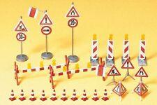 Preiser 17176 Set cartelli stradali durante manutenzione HO 1:87