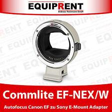Commlite Comix cm-EF-NEX/W Canon EF/EF-S a Sony e-Mount adaptador con AF (eqh82)