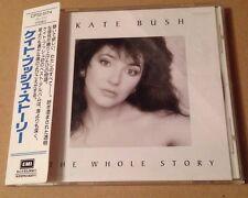 Kate Bush - The Whole Story Rare Japanese Cd Album + OBI Strip + Lyric Sheet!