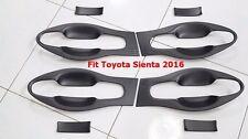 MATT BLACK BOWL HANDLE INSERT COVER TRIM FOR TOYOTA SIENTA 2016 SET OF 8