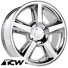 (4) 20 inch Chevy Tahoe LTZ 2007 OE Replica Chrome Wheels Rims for Tahoe 00-17