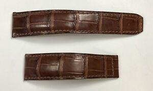 BAUME MERCIER Strap Crocodile Leather 21x18mm 11,5x8,5cm Deployment Buckle OEM /