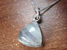 Moonstone Triangle 925 Sterling Silver Pendant Corona Sun Jewelry a202i