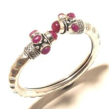 Ruby Charming Cuff Bangel Silver Plated Gemstone Fashion jewelry