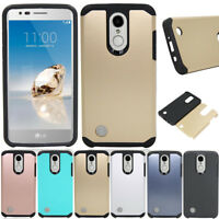 Dual Layer Hybrid Armor Case Shockproof Cover For LG Tribute Dynasty/Aristo 2