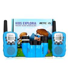 Retevis Kids Walkie Talkies PMR446 Two-Way Radio w/ 8x21 Binoculars for Children