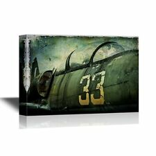 wall26 - Flight Canvas Wall Art - Vintage Warcraft Airplane - 24x36 inches