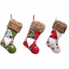 3d Plush Swedish Gnome Christmas Stockings Sock For Fireplace Hanging Xmas Trees