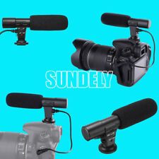 3.5mm External Stereo Microphone Mic For Canon Nikon DSLR Camera DV Camcorder UK