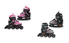 2 in 1 In-Line Skates Ice Skates Inliner Sizes Adjustable Street Runner