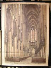 Murs carte gothique II stilkunde baukunde 1140 ~ 1500 77x104 vintage map ~ 1960