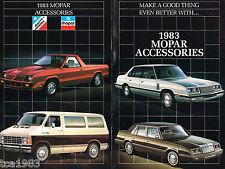 1983 MOPAR Accessories /Opciones Catálogo/ CATALOG: Dodge,Chrysler,Ski HORQUILLA
