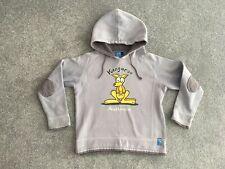 Earth Nymph Kids Boys Grey Kangaroo Australia hoodie L approx 8-10 Years Glow!
