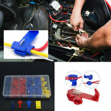 65xCar Quick Splice Lock Wire Clamp Electrical Connector T-Tap Connector Box Kit