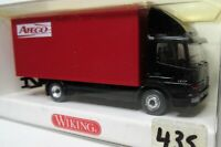 Wiking 1:87 Mercedes Benz Atego 1217 Koffer LKW OVP 435 01 schwarz / rot