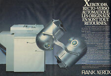 1984 Ad Double Page Rank Xerox 1048 Duplex Copier 10 Series